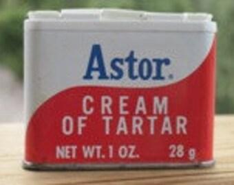 Vintage Astor Cream Of Tartar Spice Tin