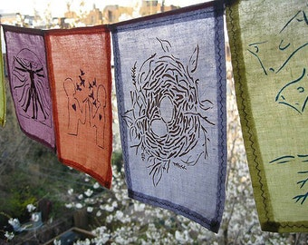 Prosperity Prayer Flags. Inspirational Prayer Flags.