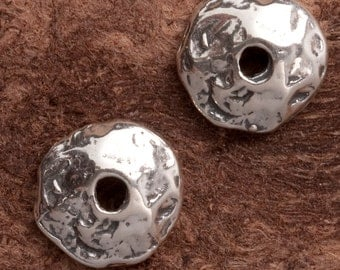 Sterling Silver Handcrafted Textured Bead Cap No. B23ss
