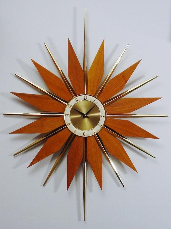 Reserved Currently For Przybylak Vintage Starburst Clock