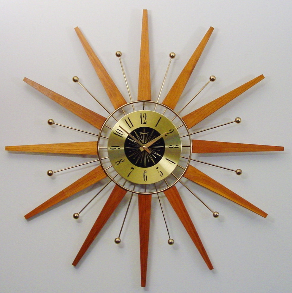 28 midcentury modern clock mid century modern roxhall starb