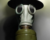 Gas Mask Fine Art Photograph - Tommy No.1 - apocalyptic ww1 ww2 british english helmet 16x24