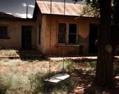 Abandoned House Photograph - A Child's Swing - fine art southwest new mexico desert 12x18
