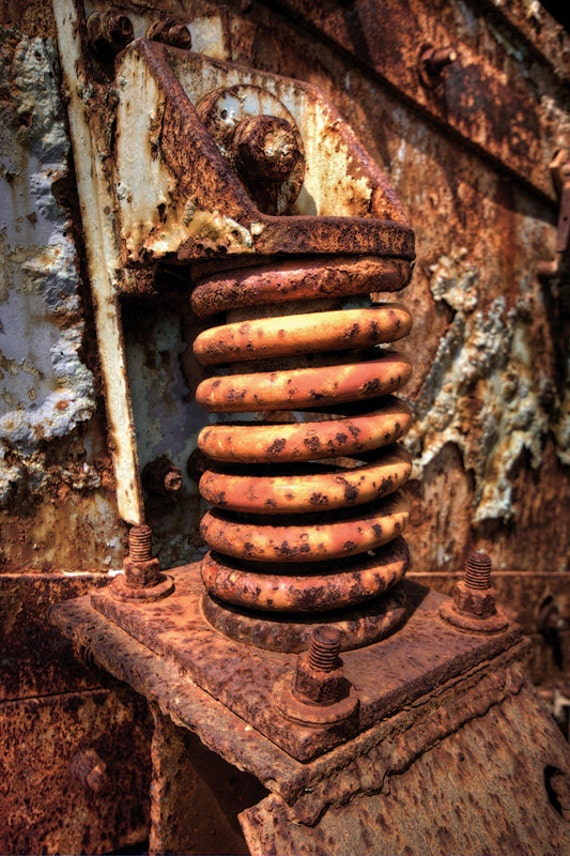 Industrial Fine Art Photograph - Rite of Spring - rust metal machinery 10x15
