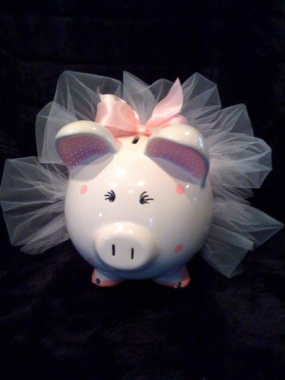 Custom ballerina piggy bank Large piggy banks for adults