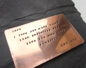 7th wedding anniversary gift copper or aluminum keepsake