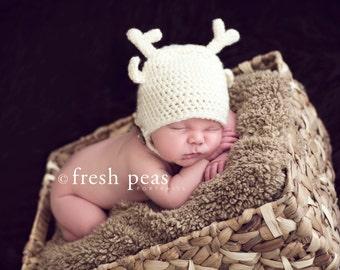 Woodland Fawn Hat/Deer Photography Prop- Newborn PDF Pattern- crochet
