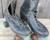 Men's Roller Skates Sure Grip Super X Leather Black Blue Green Size 12