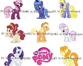 My Little Pony 1-inch bottlecap image sheet