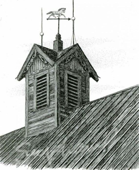 Fine Art Print on Etsy - Barn Cupola, 8X10