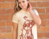 Susan B American Apparel Tee Hand Screen Printed Tshirt