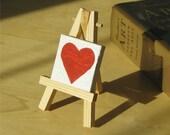 Tiny heart painting