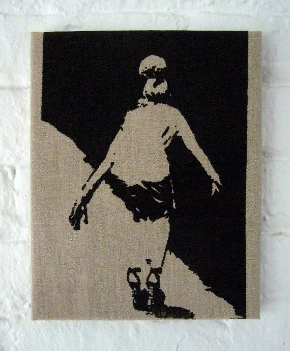 Runway Model Wipeout Series Original Screen Prints on Linen in Limited Edition