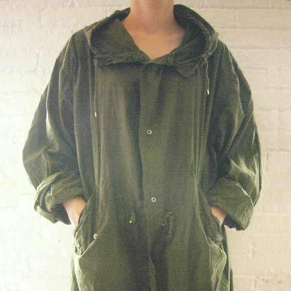 Vintage Fishtail Parka 80s Anorak Mod Punk Ska Army Green Cotton Unisex One Size Hoodie Mackintosh Quadrophenia Vespa Scooter Military Parka