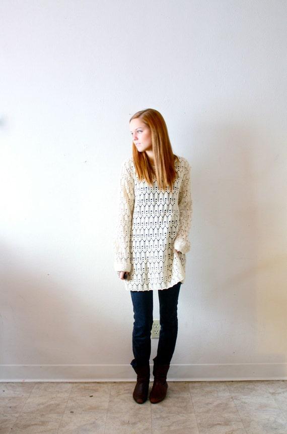 Vintage crochet/knit sweater