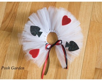 Queen of Hearts preemie or newborn tutu set.. Made halfway around to make laying more comfortable.