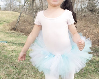 Dance Class tutus. Baby Blue and white. Are the perfect size for dance school.Leotards not included.