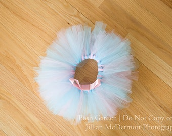 Dance Class tutus. Cotton Candy dance tutu with blue and pink. Are the perfect size for dance school. Leotards not included.