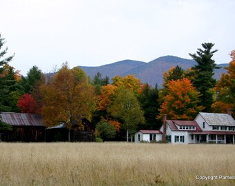 Adirondack Farmhouse, New York 5x7 Framed and Matted Limited Edition Print