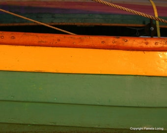 Green & Yellow Dory, Stripes of a Boat 5 x 7 Limited Edition Photograph