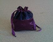 Custom Made Money Bag Dollar Dance Eggplant With Navy Blue  Accent