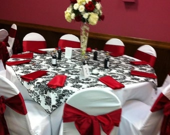Damask Black and White Overlay 59x 59