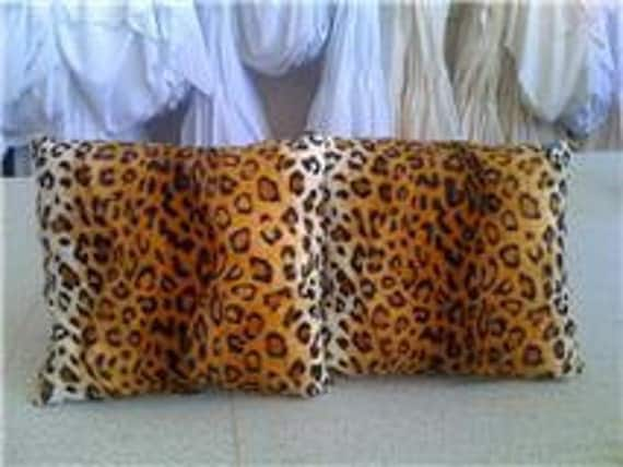 Pair of Leopard fax fur pillows 16 x 16 with insert included