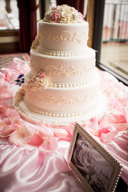 Custom Made Wedding Cake Table Tablecloth Pink Satin 30 Inch