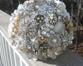 Brooch and Jeweled Bouquet ... Made to order... Just for You