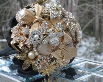 Brooch and Jeweled Bouquet Made to Order