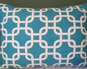 Premier Prints Gotcha True Turquoise pillow cover 12 X 17