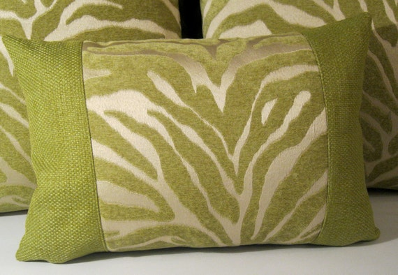 Serengeti Lime Animal Print  pillow cover 12 X 17