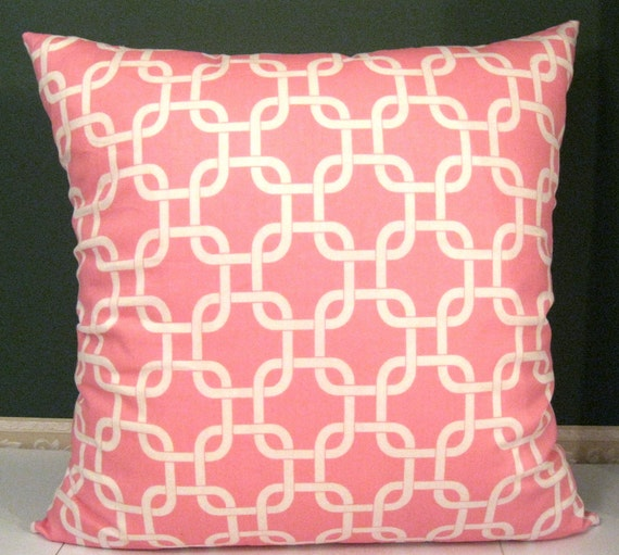 Premier Prints Gotcha Twill Baby Pink pillow cover 22 X 22