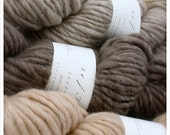 SuperNatural - handspun yarn range, natural coloured locally sourced wool, super-bulky weight, single ply.