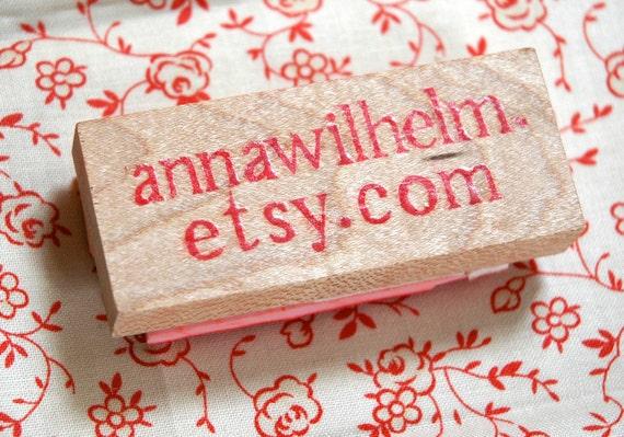 Custom Etsy Shop URL Stamp