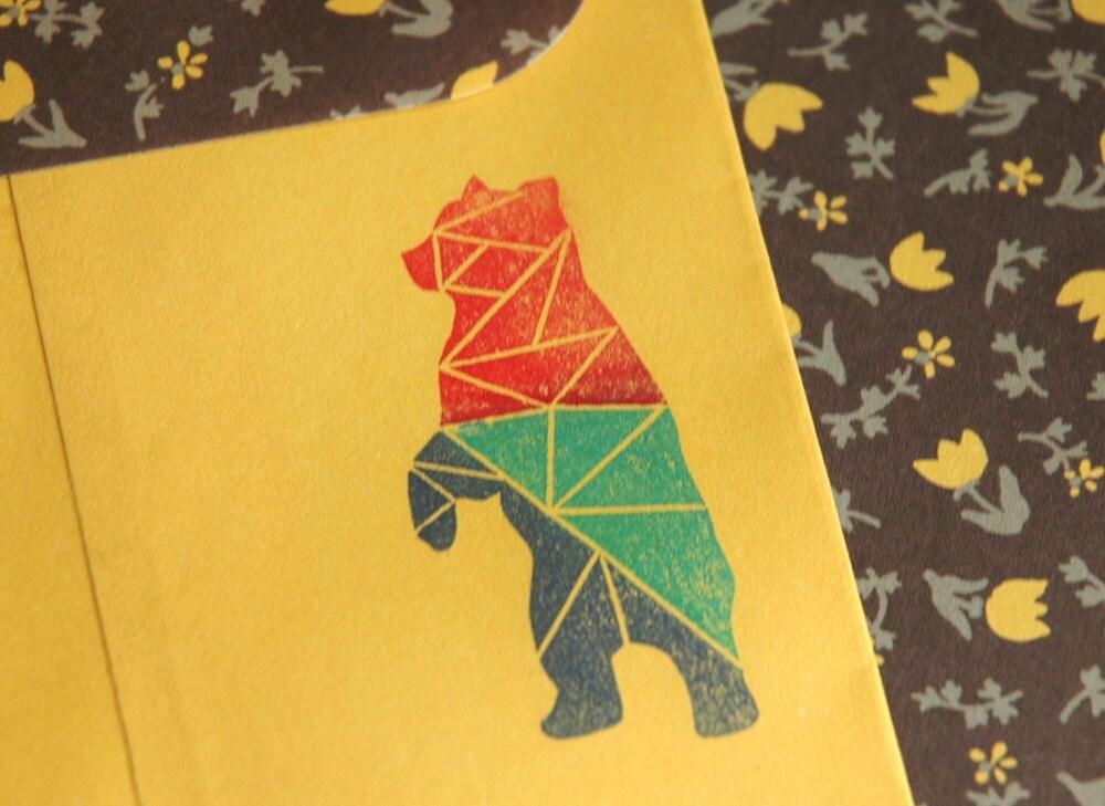 Geometric Bear Drawing Geometric bear stampGeometric Bear Drawing