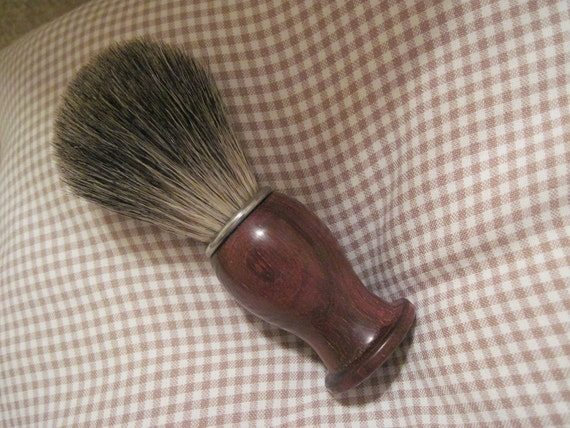 Hand Turned Cocobolo Wood Shaving Brush with Grade A Badger Hair
