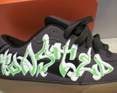 Custom Graffiti Hand Painted Nike 6.0 Shoes - Will Do Custom Orders