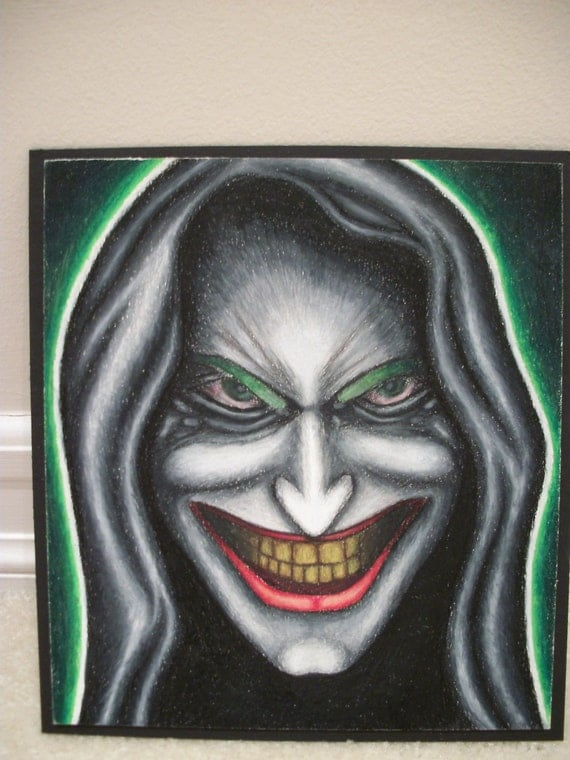 Colored Pencil Face Drawings Joker Face Colored Pencil