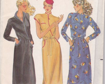 retro dress sewing pattern butterick 6787 size 6 xs