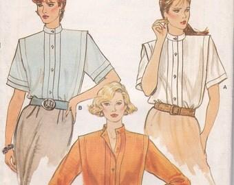 Lovely classic  blouse pattern Size 8 Vogue 8918 bust 31 1/2 uncut