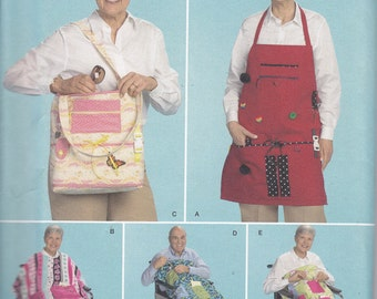 Senior apron craft project purse cape lap quilt pockets  blanket helper wheelchair one size OOP Simplicity 2623