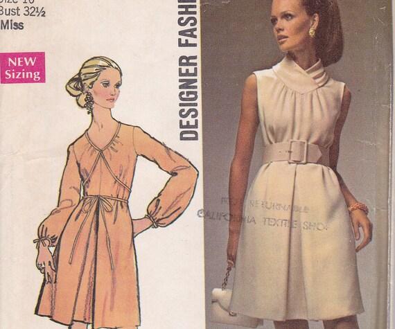 Designer Fashion SImplicity pattern 8648 1969 dress uncut