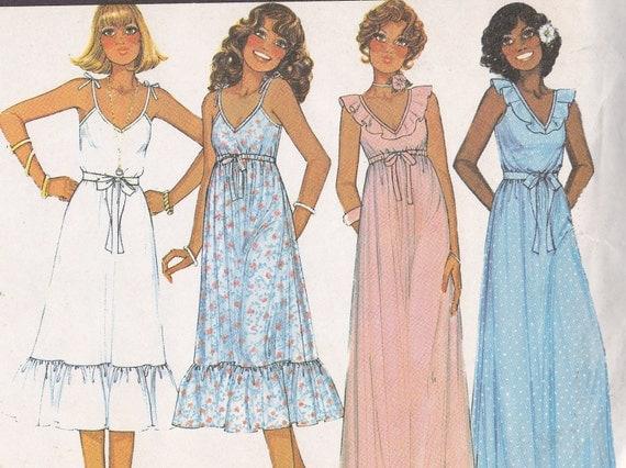 1978 McCalls 6091 dress pattern Size petite 6 8 bust 30 1/2 to 31 1/2