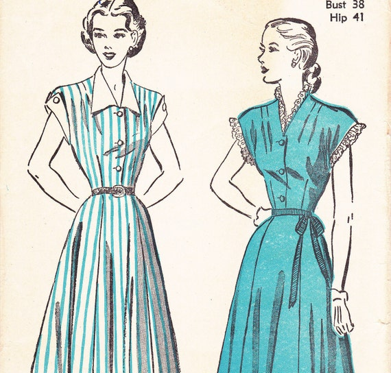 Advance Sewing pattern 4894 Size 20 Bust 38 Dress from 1940s