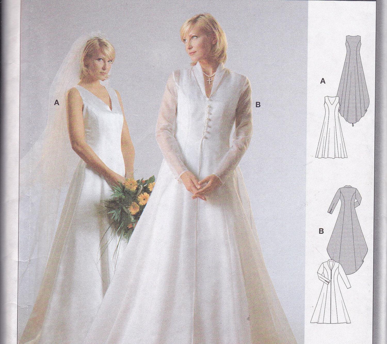 Wedding Dress And Coat Sewing Pattern Uncut Burda 8967 Sizes