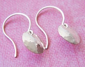 STERLING SILVER Hand Crafted Hammered Domed Earrings