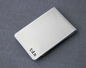 Sterling Silver Personalized Hand Stamped Money Clip