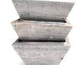 Reclaimed Cedar Planters - Set of 3
