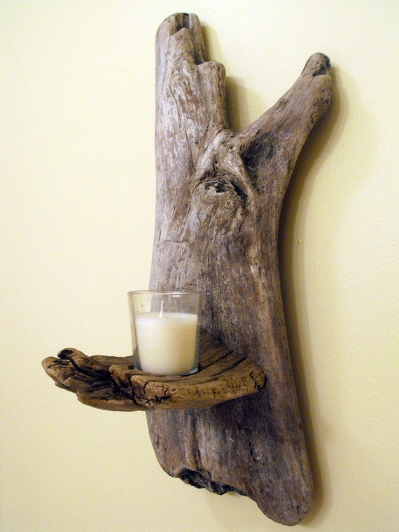 Driftwood Hand Sconce